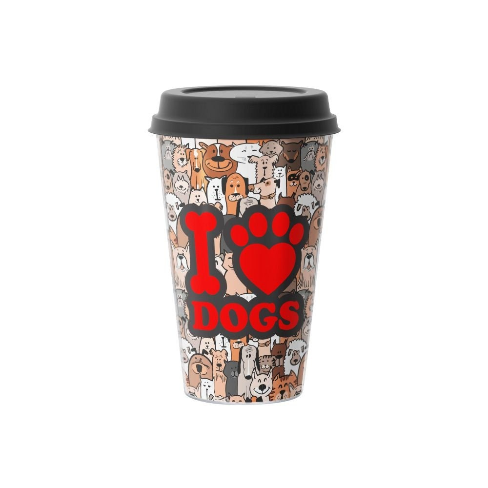 Copo de Café I Love Dogs Eu Amo Cachorros 500 ml - EV