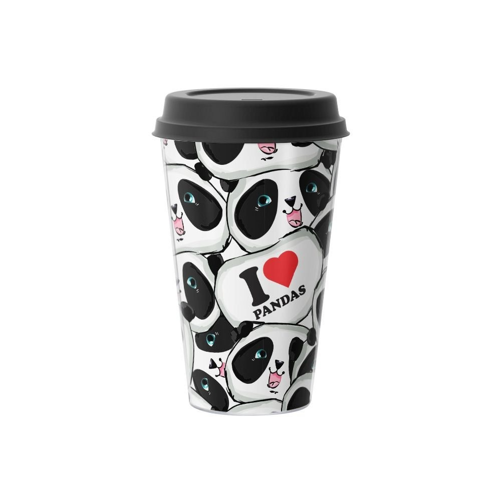 Copo de Café I Love Pandas Eu Amo Pandas 500 ml - EV