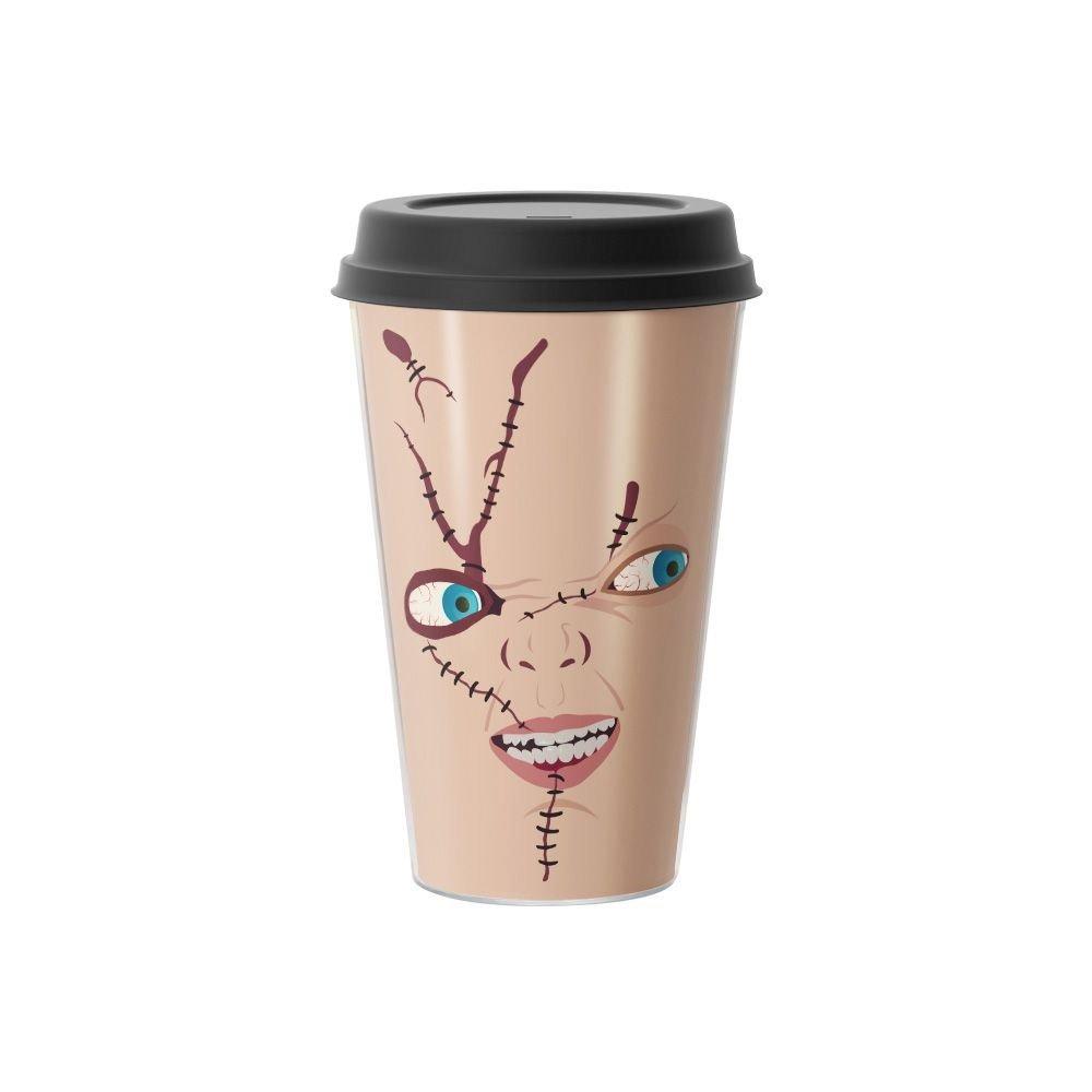 Copo de Café Rosto Chuck Brinquedo Assassino  500 ml - EV