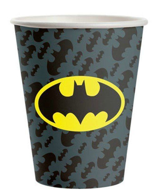 Copo de Papel: Batman 300ml - Festcolor