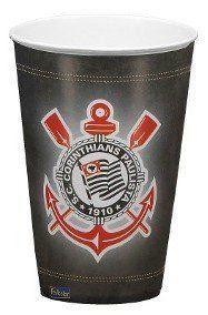 Copo de Papel: Corinthians 300ml - Festcolor