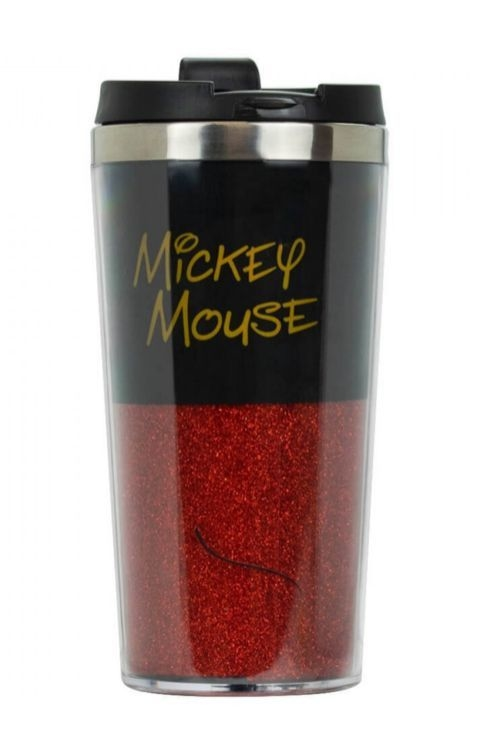 Copo De Plástico Mickey Mouse: Mickey E Minnie Mouse Vermelho E Preto Disney - 450ML
