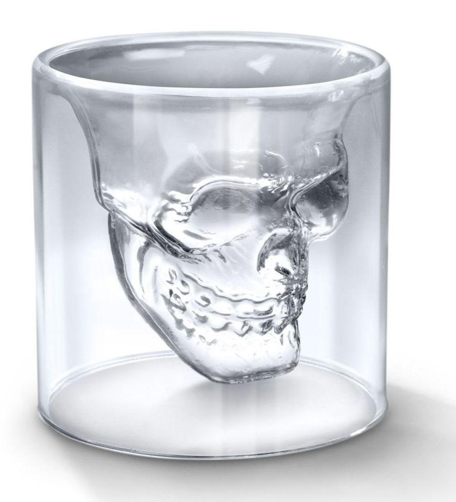 Copo de Vidro: Crystal Skull Caveira Grande (300ML) - Doomed