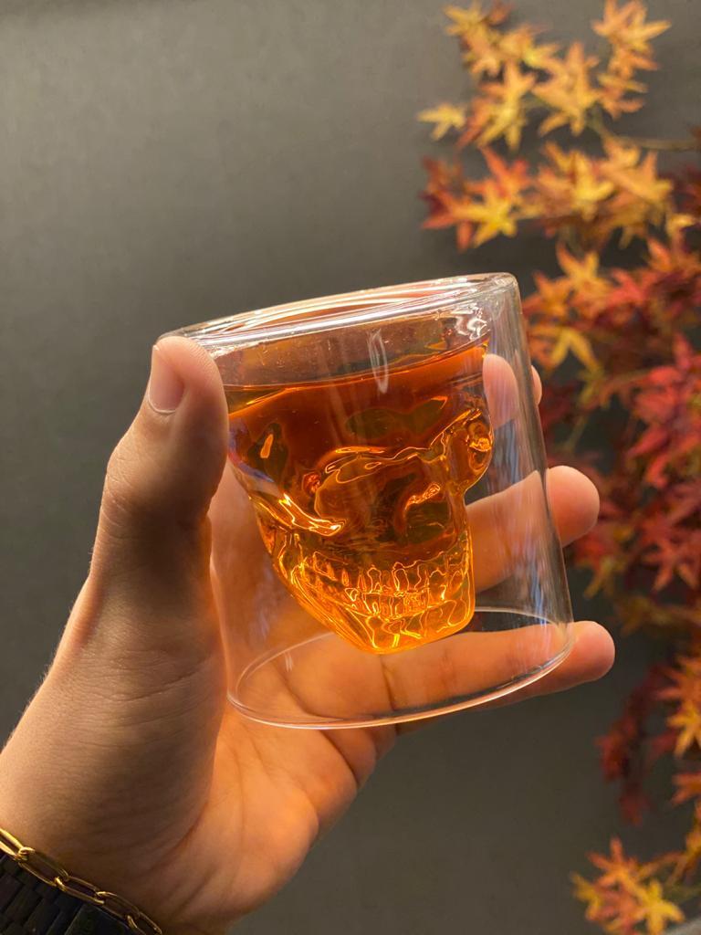 Copo de Vidro: Crystal Skull Caveira Médio (75ml) - Doomed