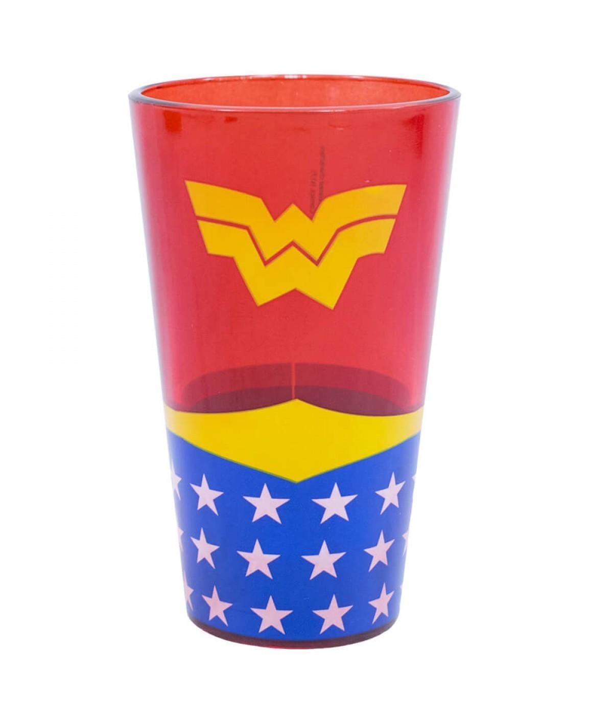 Copo de vidro Wonder Woman - Mulher-Maravilha - DC SUPER FRIENDS