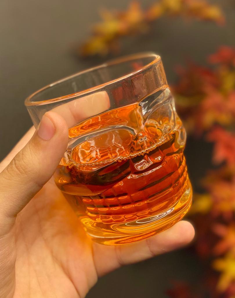 Copo de Whisky Caveira - Rock Style (300ml)