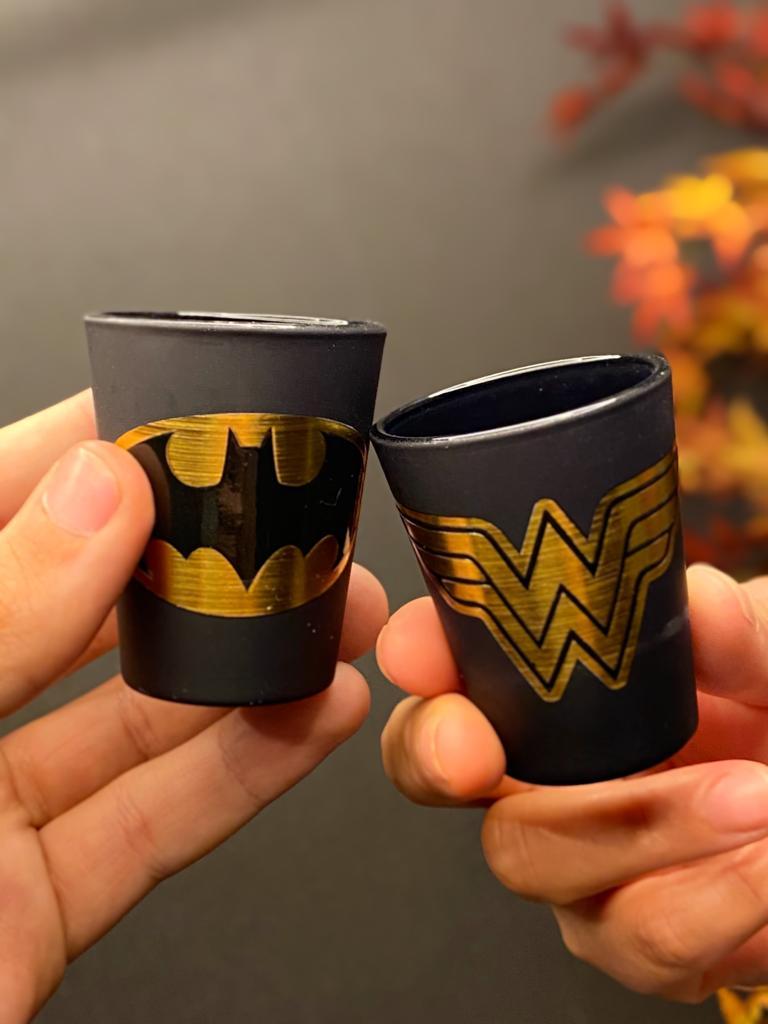 Copo Dose Golden (Shot): Batman e Mulher-Maravilha (Set 2 Peças) - Urban