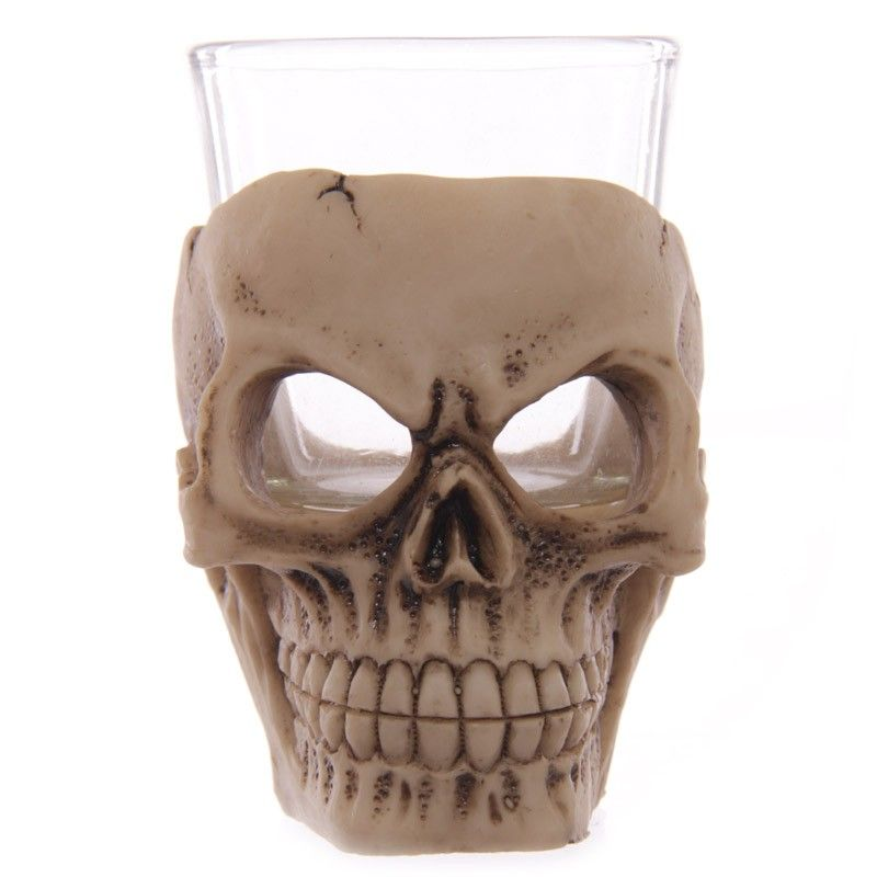 Copo Dose (shot) Caveira (Skull) Vidro