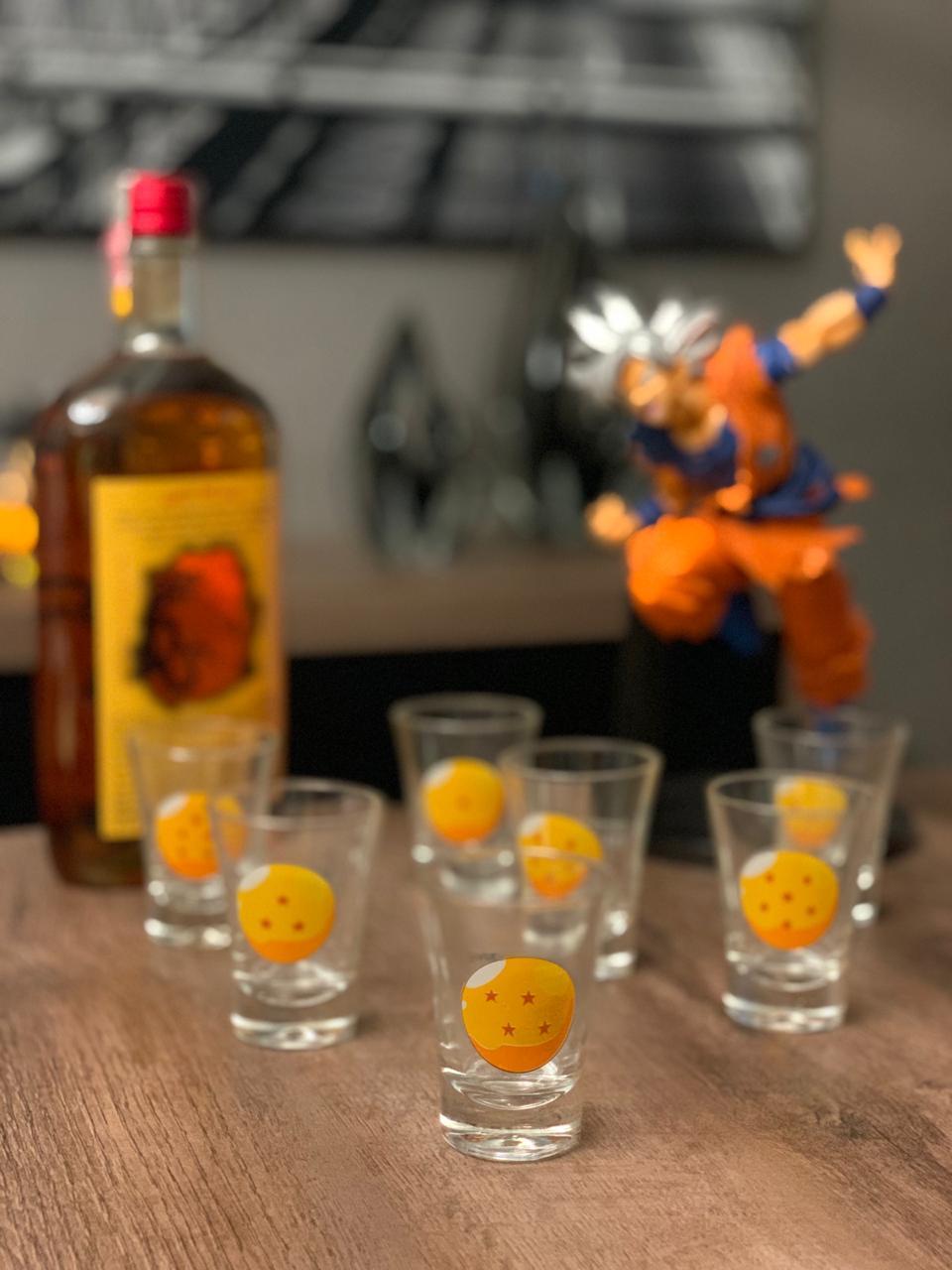 Copo Dose (Shot) Esferas do Dragão: Dragon Ball (Set 7 Peças) - Zona Criativa