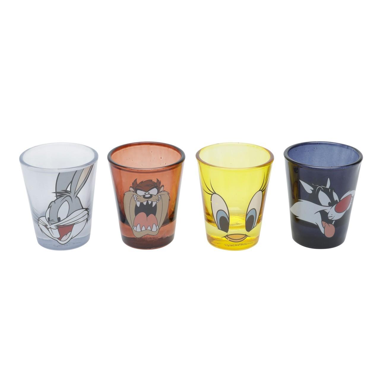 Copo Dose (Shot) Set de 4 copos Looney Tunes - Metropole