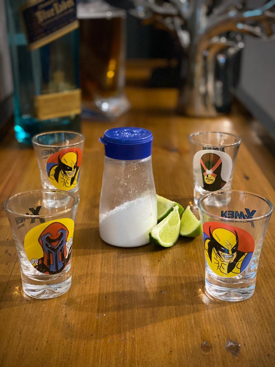 Copo Dose (Shot) X-Men  ( Marvel ) Comics (Set 4 Peças)