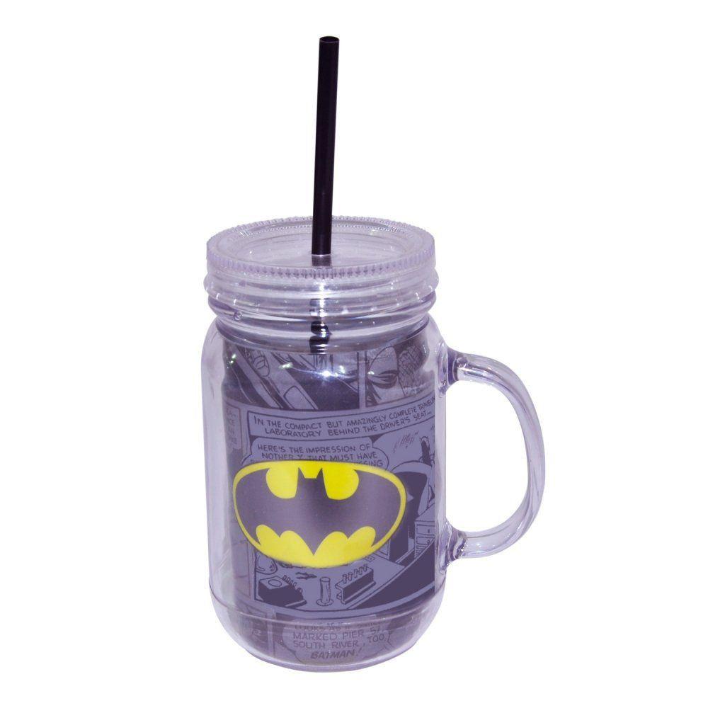 Copo Jarra Acrílico DC Comics: Batman Logo - Urban