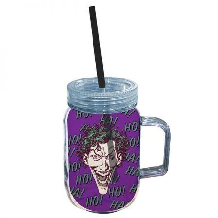 Copo  Jarra Acrilico Joker Face Colorido - Dc Comics