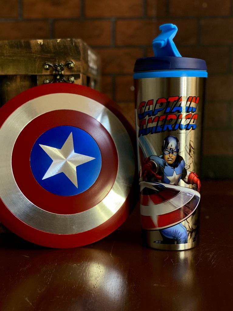 Copo Para Viagem Capitão America - Marvel 450ml