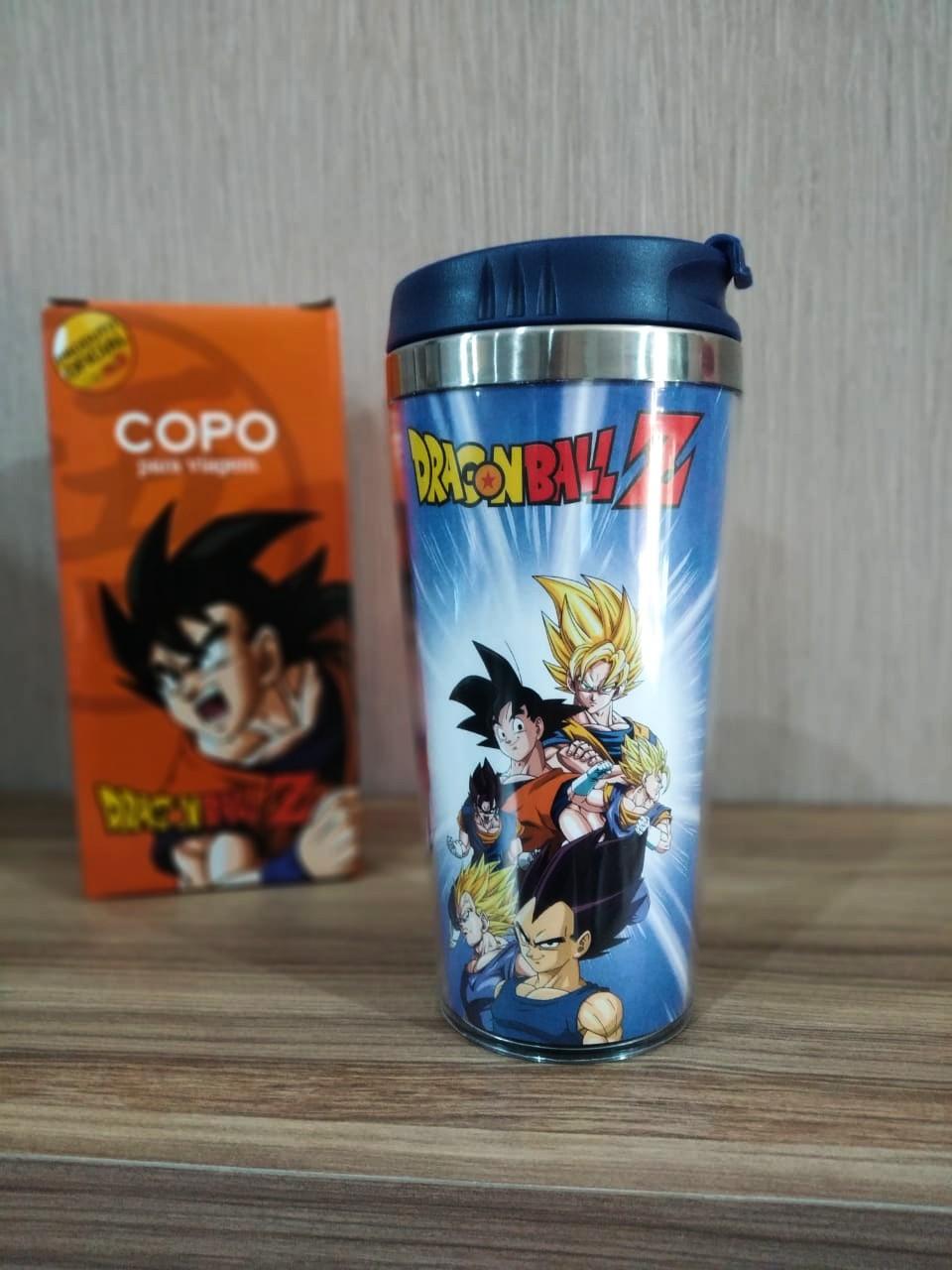 Copo para Viagem Goku e Vegeta Super Saiyajin: Dragon Ball Z - 450ml