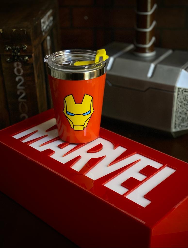 Copo Para Viagem Homem De Ferro - Iron Man: Marvel Vingadores (300ml)