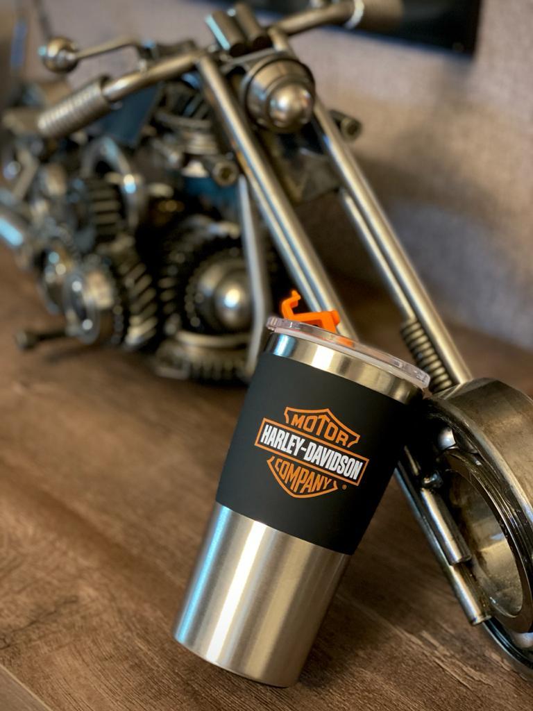 Copo Para Viagem Logo Harley-Davidson (450ml)