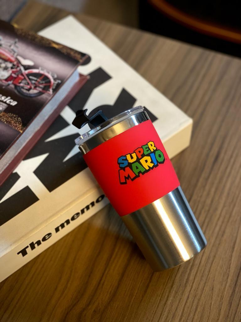 Copo Para Viagem Logo Super Mario: Super Mario Bros (450ml)