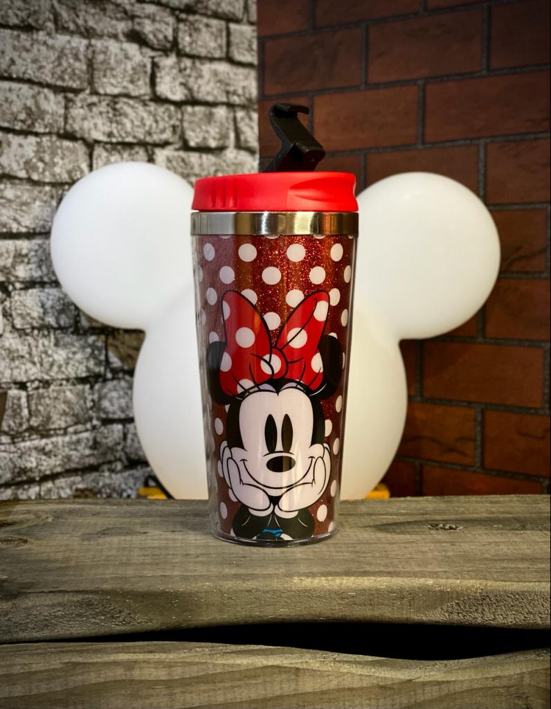Copo para Viagem Minnie Mouse (Glitter): Disney - 450ml