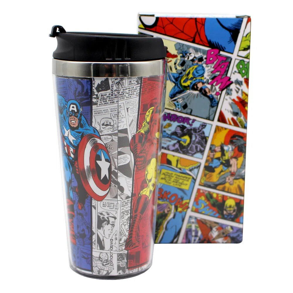 Copo para Viagem Os Vingadores: Marvel - 450ml