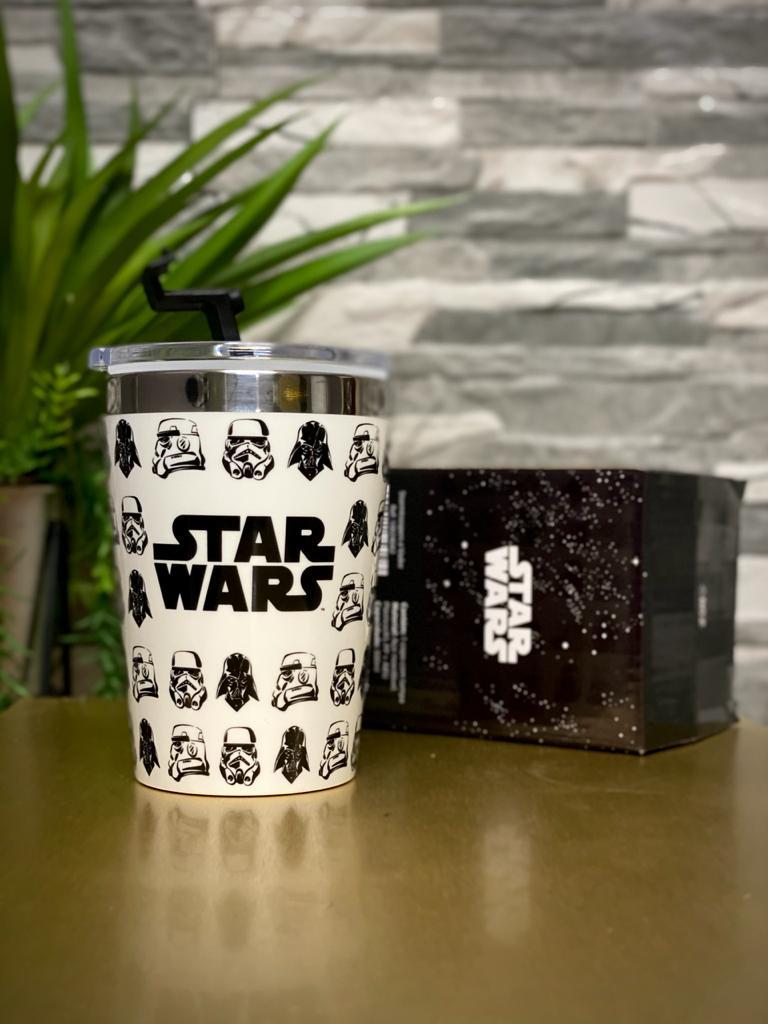 Copo Para Viagem Stormtrooper & Darth Vader: Star Wars (300ml)