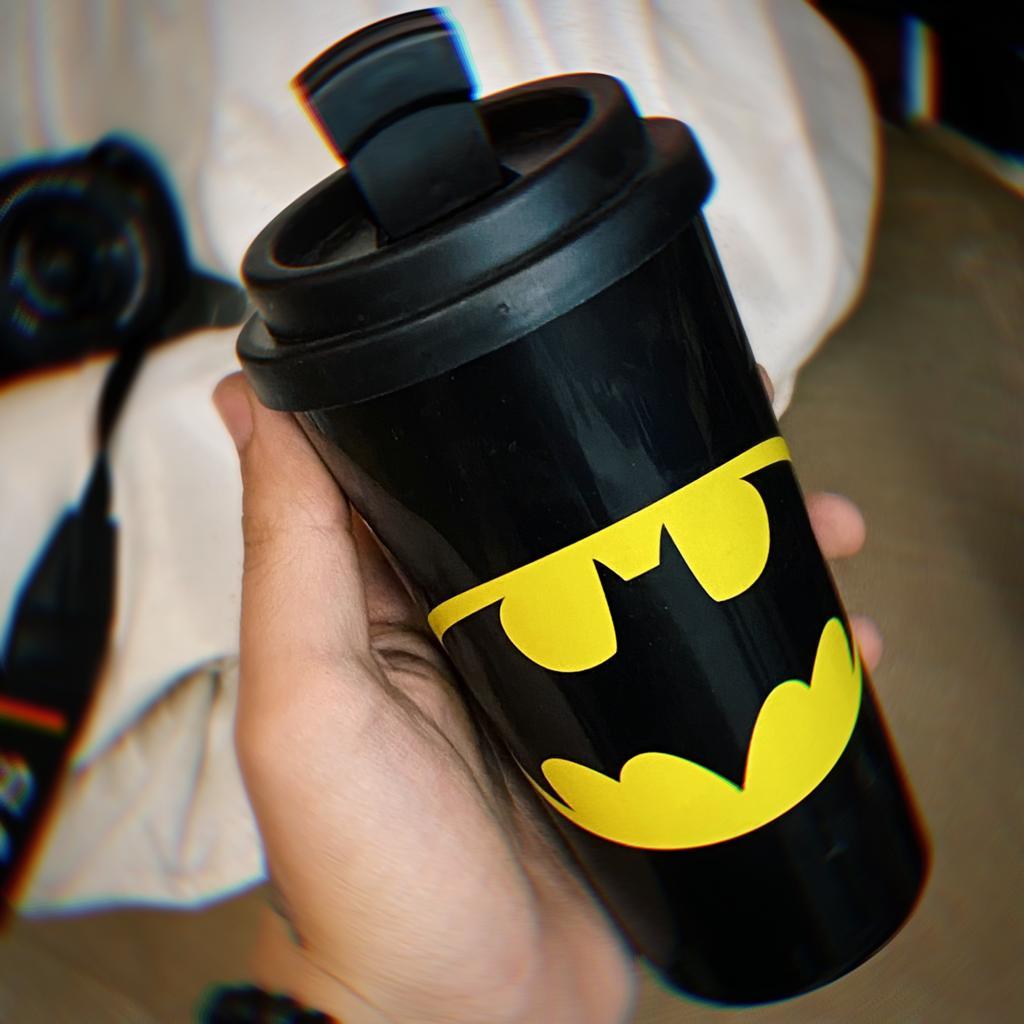Copo Plástico Preto: Batman  500ml