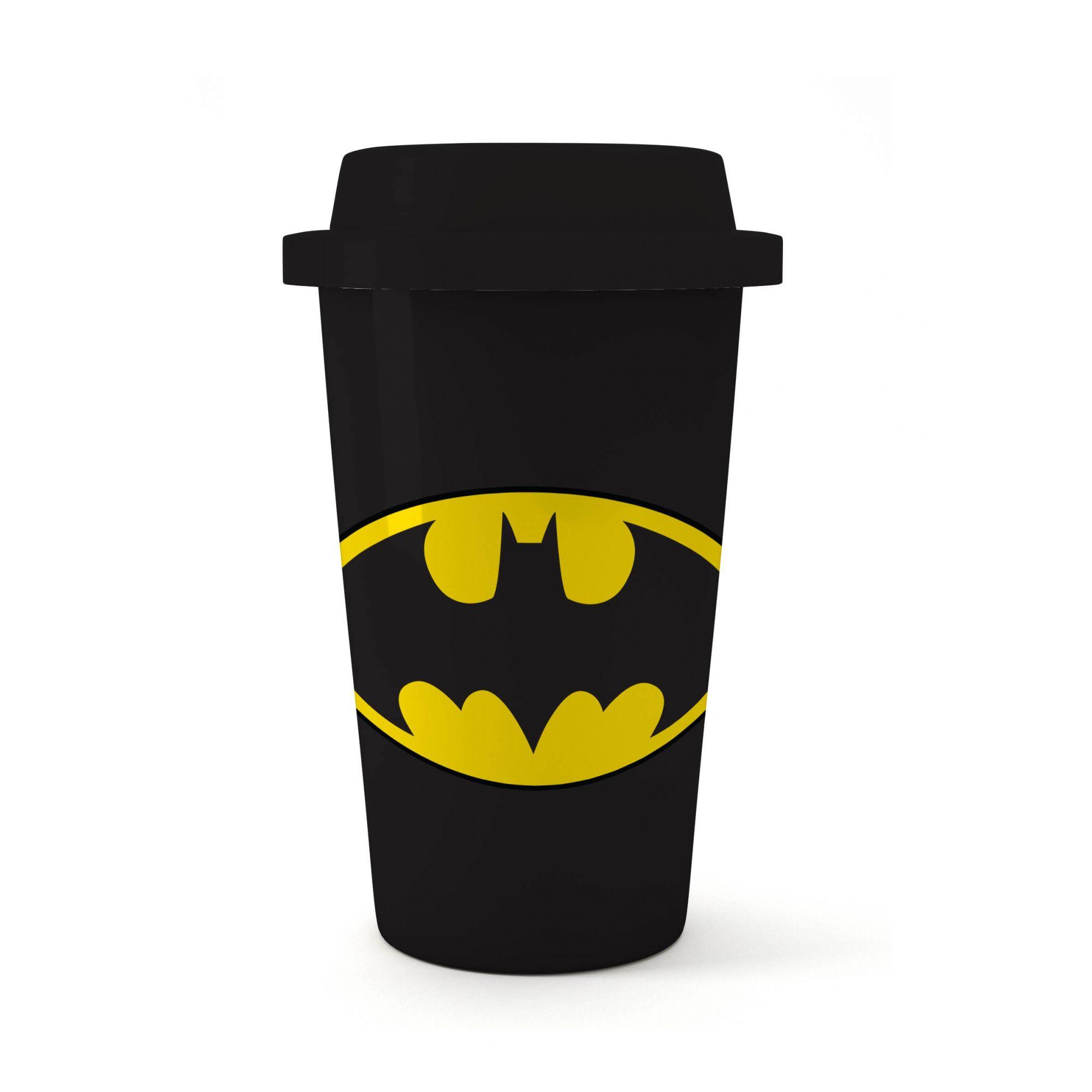 Copo Plástico Preto: Batman  500ml - Urban