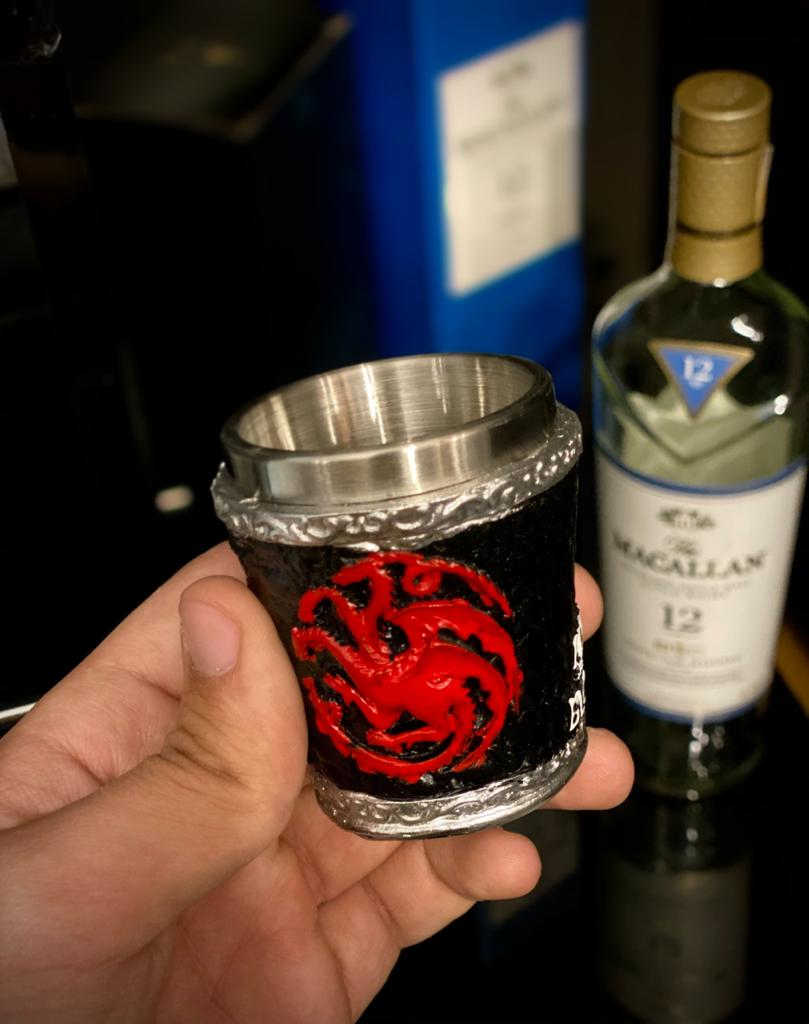 Copo Shot Casa Targaryen (Fire And Blood): Game of Thrones - 60ml