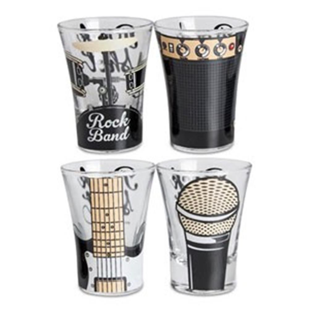 Copo Shot Rock Band 4 Peças