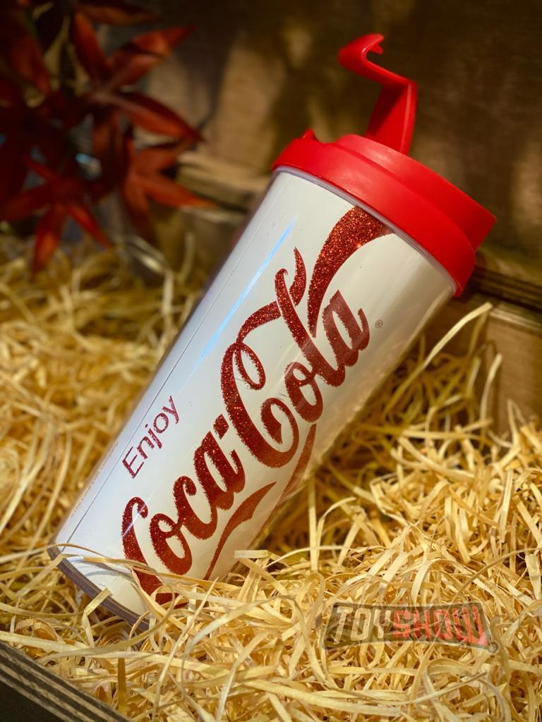 Copo Térmico Logo Coca-Cola (Branco) - 500ml