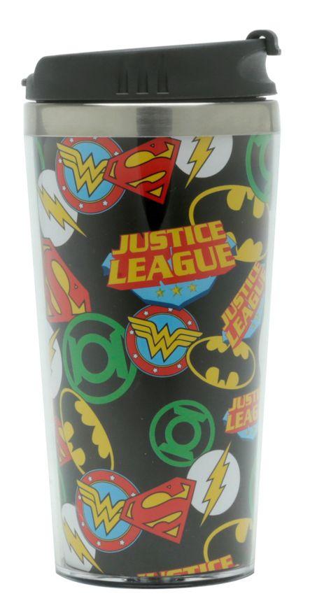 Copo Térmico Logo Liga da Justiça: DC Comics - (500ML)