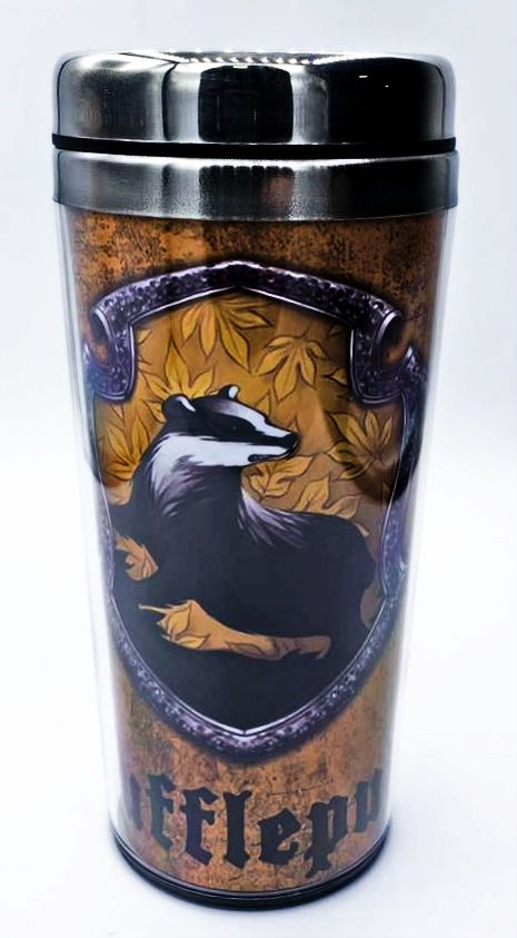 Copo Térmico Lufa-Lufa (Hufflepuff): Harry Potter - (450ML)