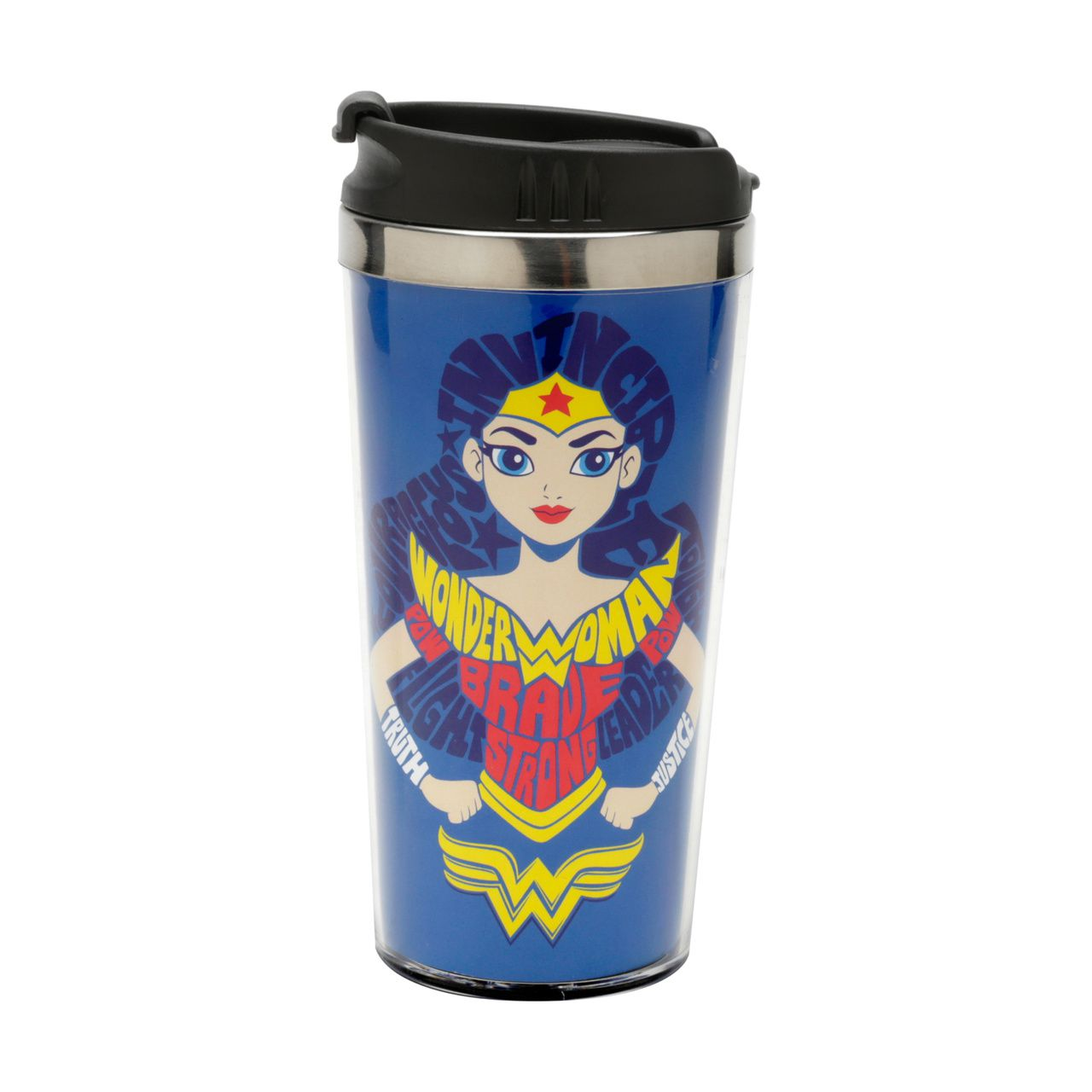 Copo Térmico Mulher-Maravilha (Wonder Woman): DC SuperHero Girls - (500ML)