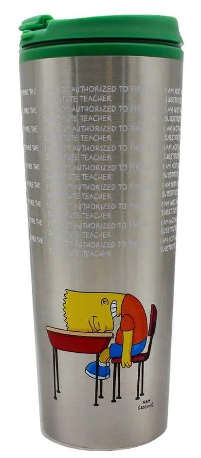 Copo Térmico para Viagem Bart (Lousa): Os Simpsons (450ml) - Zona Criativa
