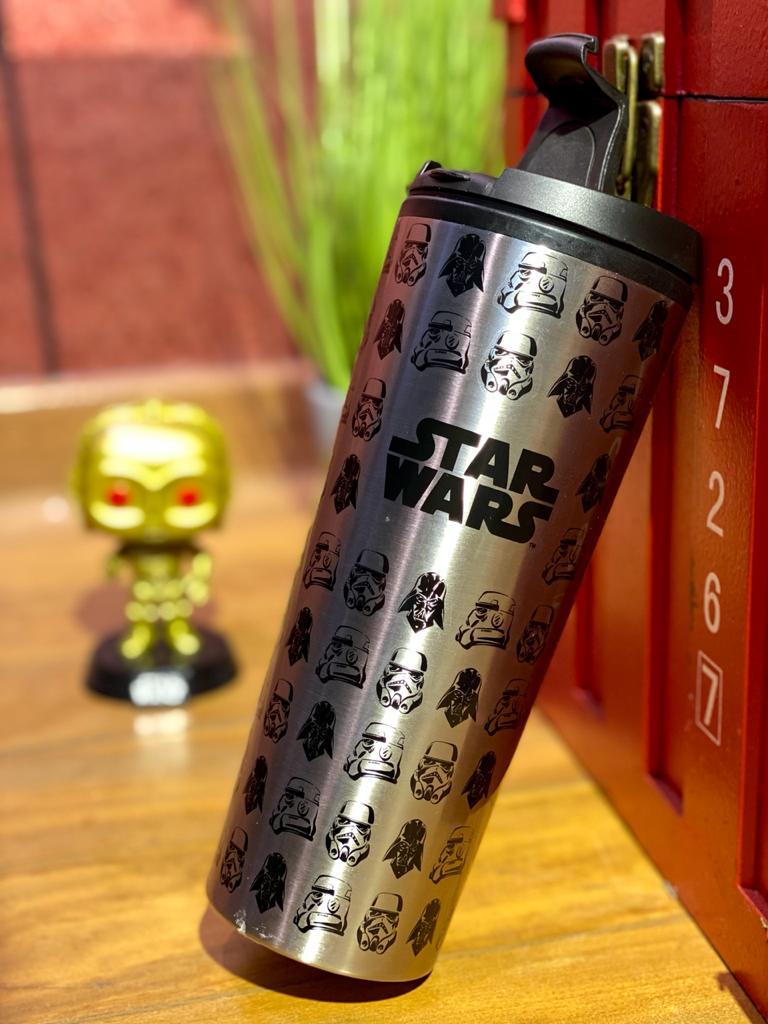 Copo Térmico para Viagem Darth Vader e Stormtrooper: Star Wars (450ml) - Zona Criativa