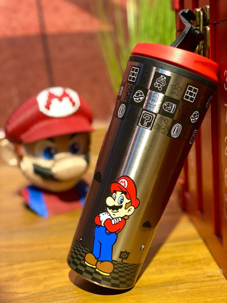 Copo Térmico para Viagem Mario: Super Marios Bros (450ml) - Zona Criativa