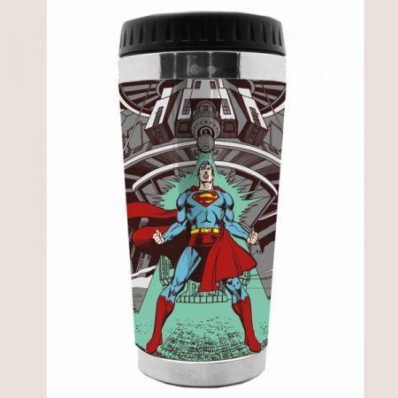 Copo Termico Plastico Super Man - Dc Comics