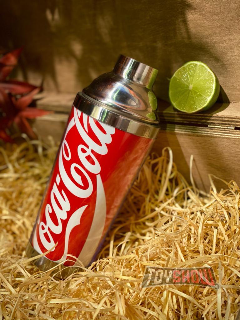 Coqueteleira: Aço Inox/Plastico Coca-Cola - (500ML)