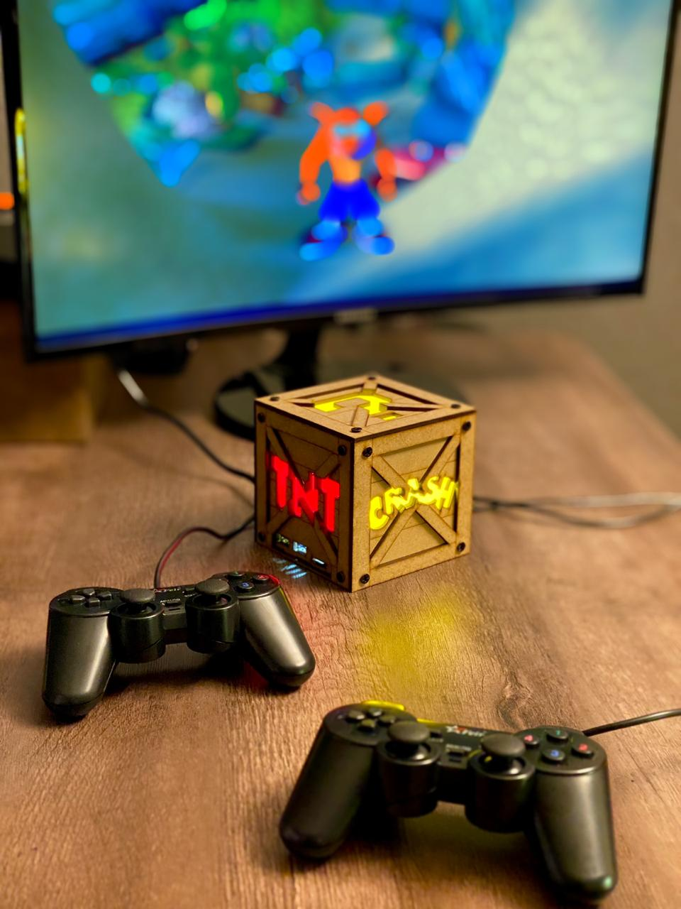 Cubo Retrô Box Crash: Fliperama Arcade Game (20.000 Jogos) PlayStation/Nintendo/SNES/Mega Drive/Sega Saturn