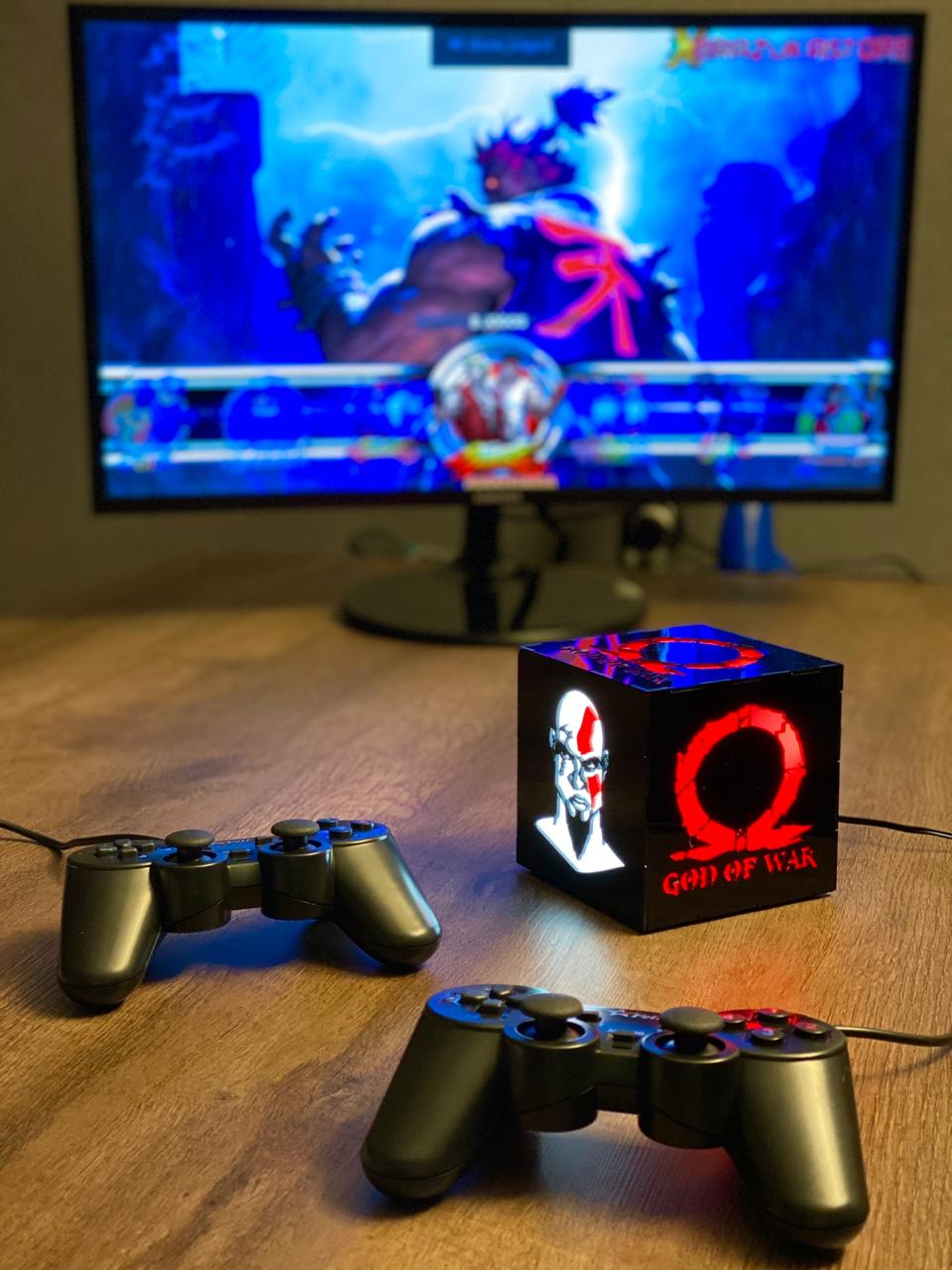 Cubo Retrô Box God of War: Fliperama Arcade Game (20.000 Jogos) PlayStation/Nintendo/SNES/Mega Drive/Sega Saturn