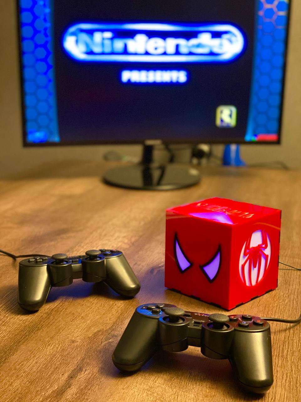 Cubo Retrô Box Homem-Aranha: Fliperama Arcade Game (20.000 Jogos) PlayStation/Nintendo/SNES/Mega Drive/Sega Saturn - EV