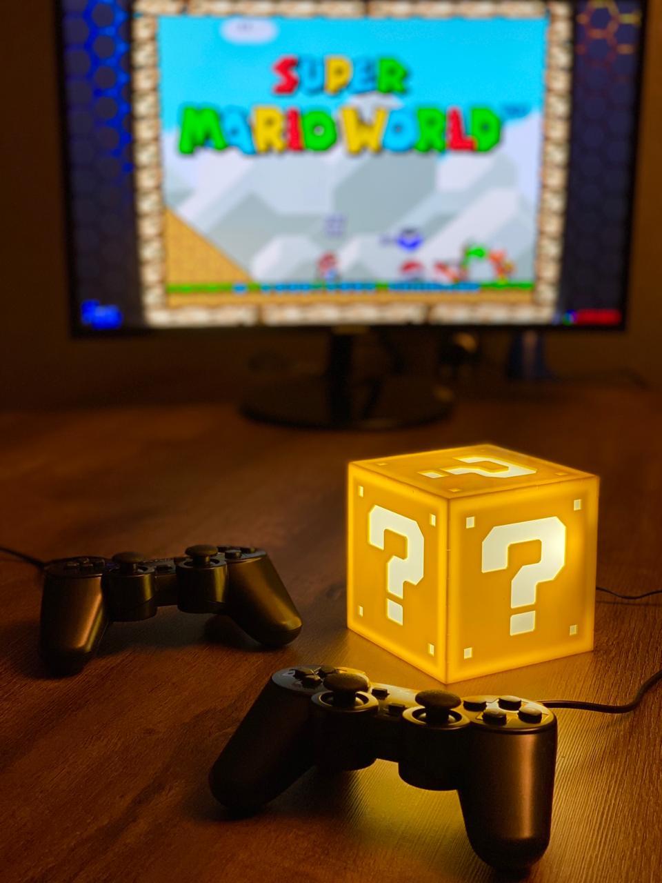Cubo Retrô Box Interrogação Mario: Fliperama Arcade Game (20.000 Jogos) PlayStation/Nintendo/SNES/Mega Drive/Sega Saturn