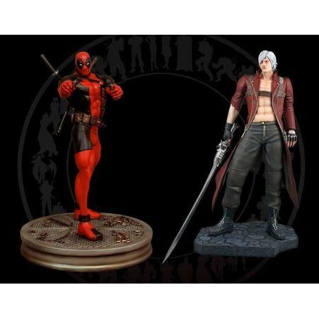 Dante Vs Deadpool Marvel vs Capcom Estátua Estátua 1:4 - Hollywood Collectibles