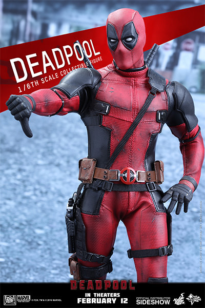 Action Figure Deadpool: Deadpool Escala 1/6 (MMS347) Boneco Colecionável - Hot Toys