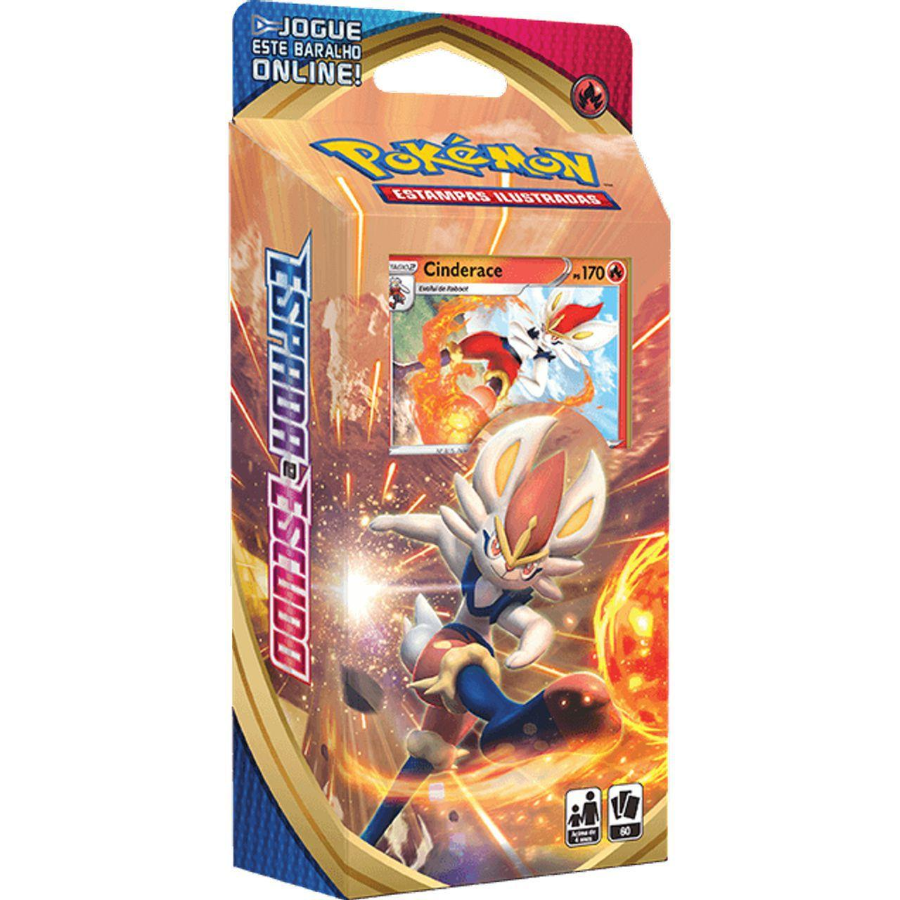 Deck Para Iniciante (Starter Deck) Card Pokémon: Espada e Escudo Cinderace - Pokémon
