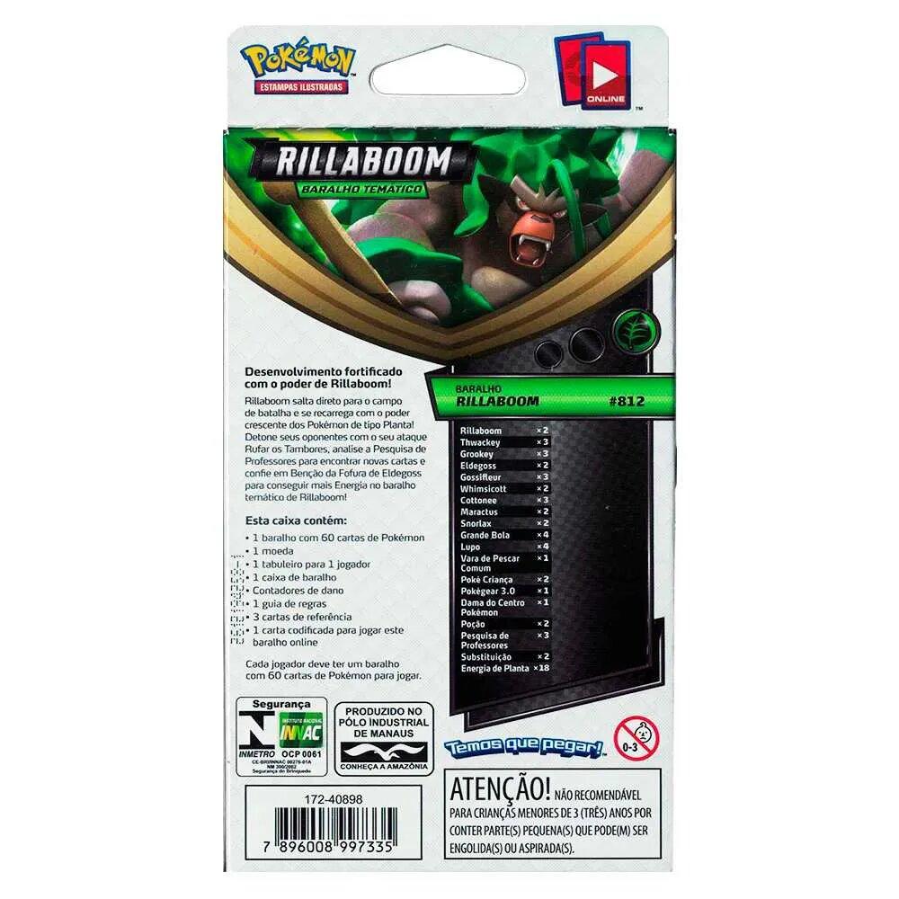 Deck Para Iniciante (Starter Deck) Card Pokémon: Espada e Escudo Rillaboom - Pokémon