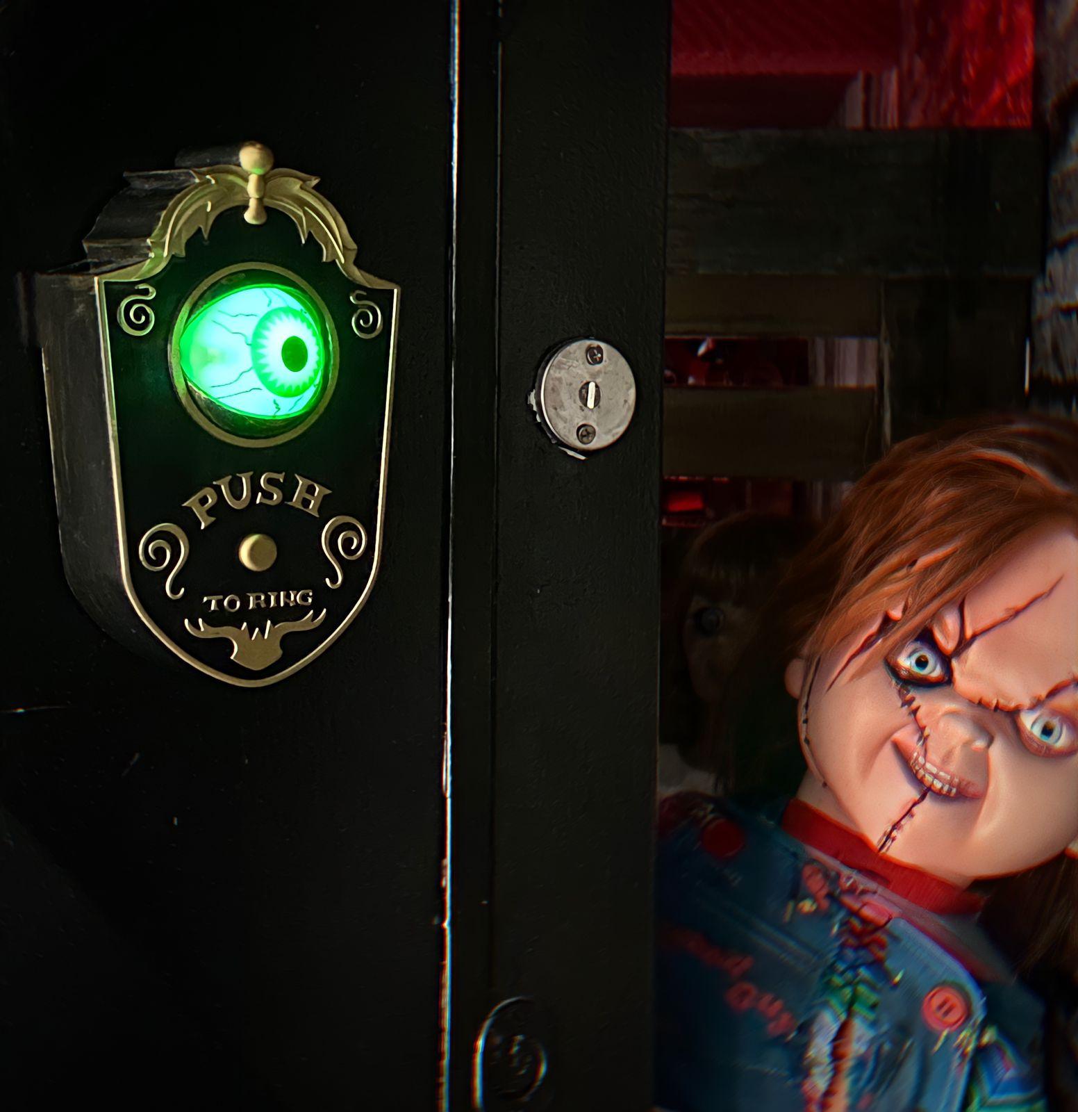 Decoração da Campainha do Globo Ocular Animado da Campainha da porta do Dia das Bruxas - MKP