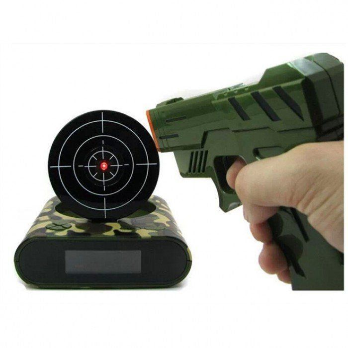 Relógio Despertador Gun Alarm (Camuflado)