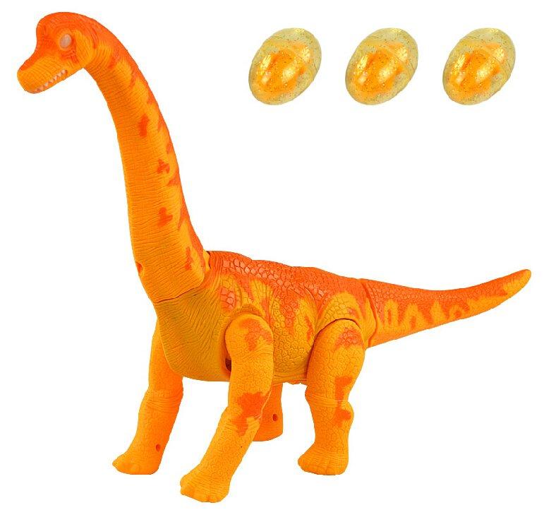 Dinossauro Eletrônico com Ovos: Brachiosaurus (Laranja) - Rong Kai
