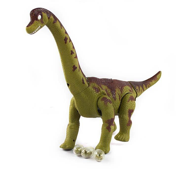 Dinossauro Eletrônico com Ovos: Brachiosaurus (Verde) - Rong Kai